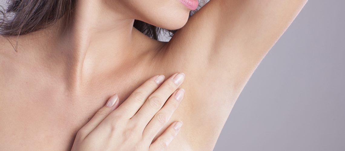 Close up of female armpit.